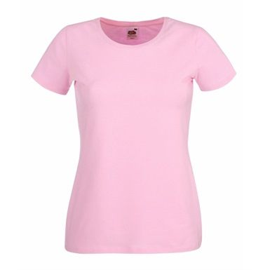 This Fruit Of The Loom 61378 Lady-Fit Crew-Neck T-Shirt is available in a choice of 7 popular colours. It's made of soft lightweight fabric and has shaped side seams for a more contemporary fit.