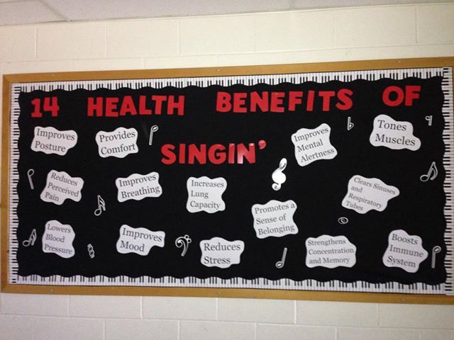 My music bulletin board in the hallway.