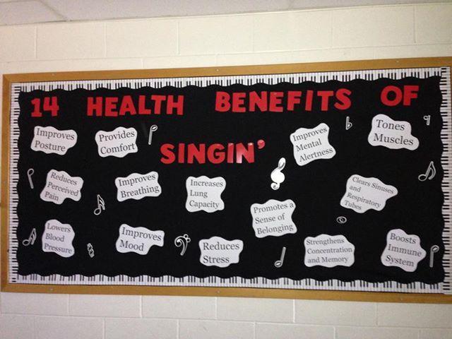 My music bulletin board in the hallway.