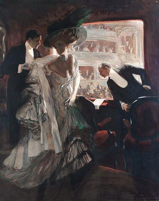 Ferdinand Freih. von Reznicek (Austrian, 1868-1909) A night at the opera