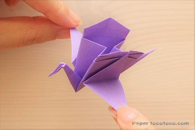 折り紙 箱鶴の折り方 簡単 かわいい鶴の小物入れ おりがみレシピのpaper Tocotoco 折り紙 箱 折り紙 折り紙 可愛い