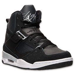 purchase cheap b04b7 ebf7f Men s Jordan Flight 45 High Basketball Shoes   FinishLine.com   Black Wolf  Grey Anthracite   footwear   Nike basketball shoes, Basketball shoes for  men, ...