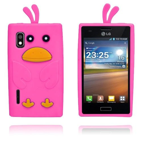 And (Hot Pink) LG Optimus L5 Cover