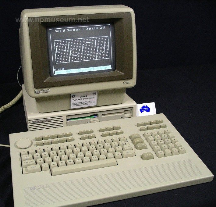 HP 9816 with 9122 disk drive and big keyboard