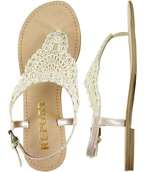 Lace sandals.