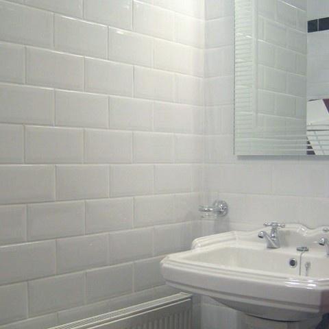 Metro tiles. Bathroom. Modern