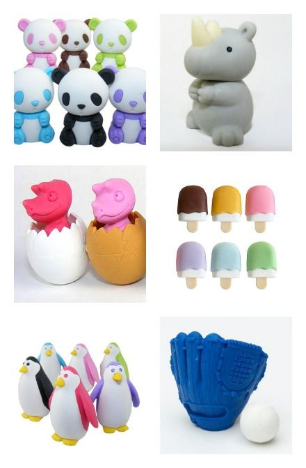 Happy to have found Kawaii Japanese erasers that are non-toxic, free of pthalates/pvc, and recyclable. Stock up, they're just $1!