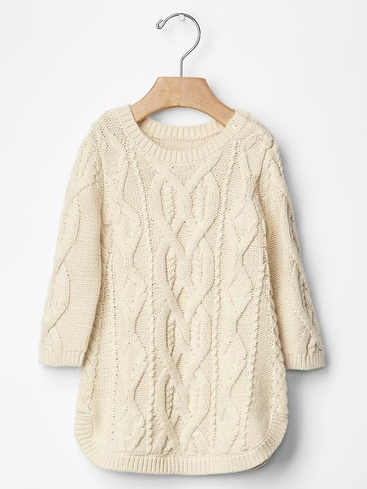 Cable knit dress from the Gap with red tights would look so cute!