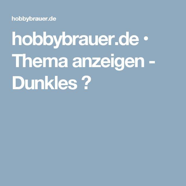 hobbybrauer.de • Thema anzeigen - Dunkles ?