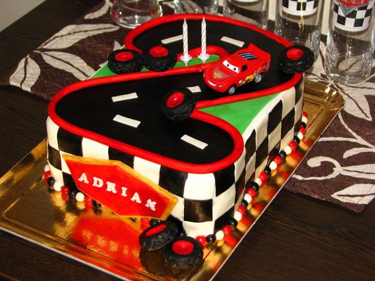 Cars cake for Adrian's 2nd birthday IX
