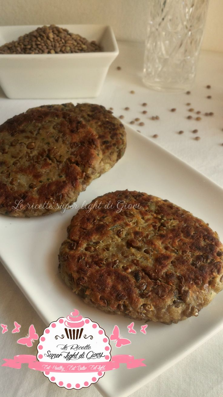 Hamburger light di lenticchie (110 calorie)
