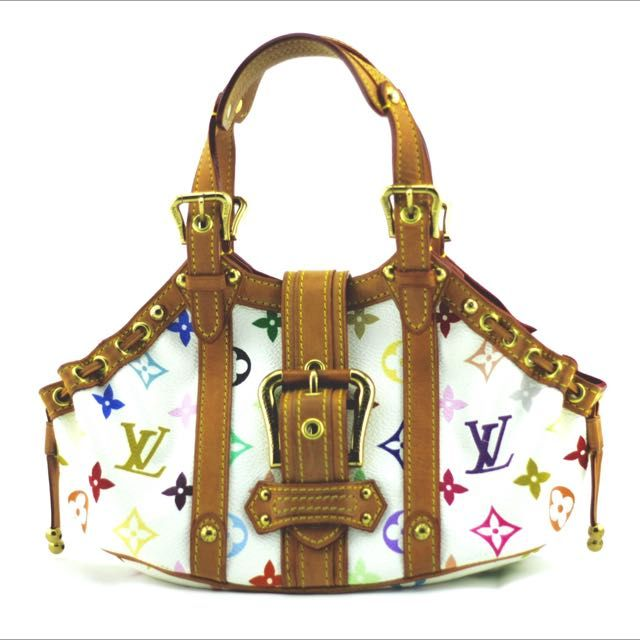 Louis Vuitton Theda Monogram White Multicolor GM on Carousell