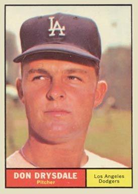 1961 Topps Don Drysdale #260 Baseball Card                                                                                                                                                                                 More