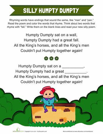 1000+ images about Prek/K- humpty dumpty on Pinterest