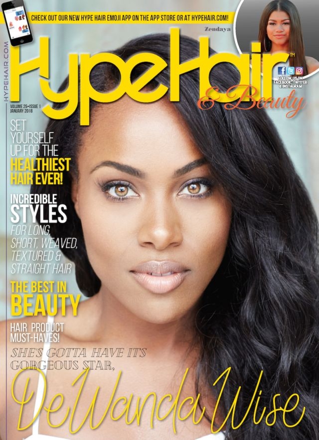 'She's Gotta Have It' Star DeWanda Wise Covers 'Hype Hair' January 2018 http://www.hypehair.com/85359/dewanda-wise-hype-hair-january-2018/
