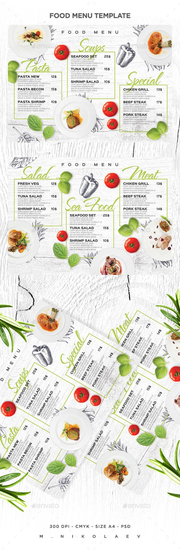 Best Food MenuFlyerPoster Images On   Brochures