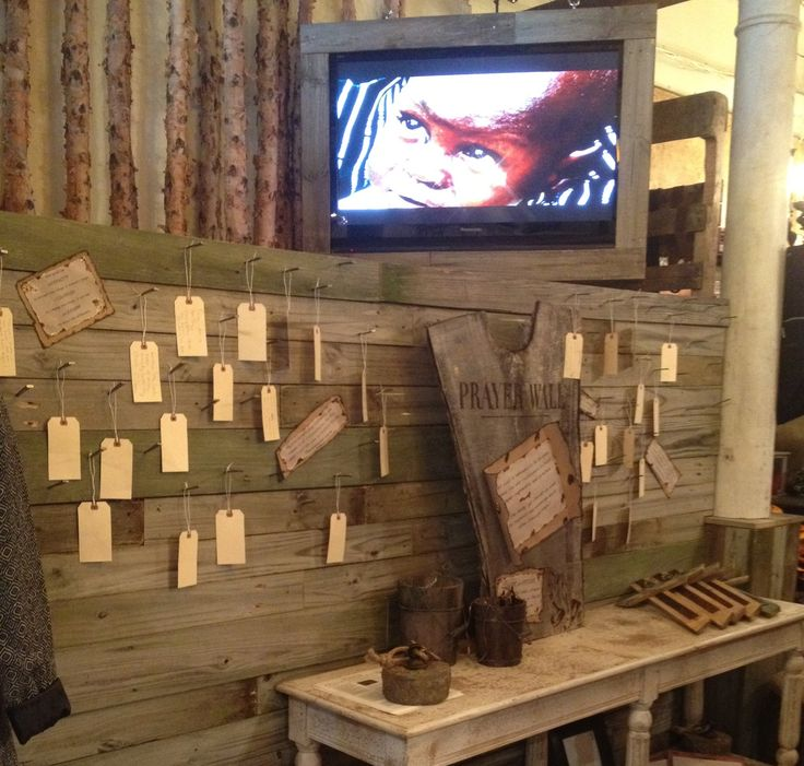 "Really Cool/rustic Prayer Wall. Could Even Use ""circular"