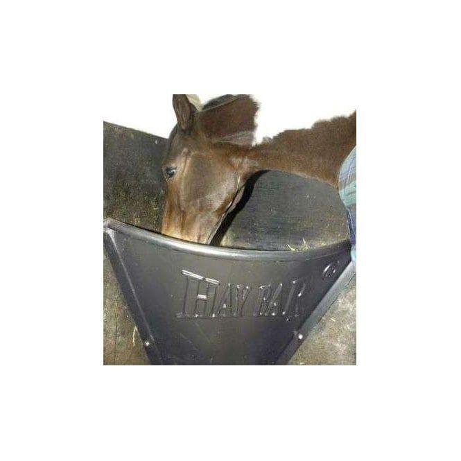 HAYBAR Horse Hay Bar Horse Feeder Black