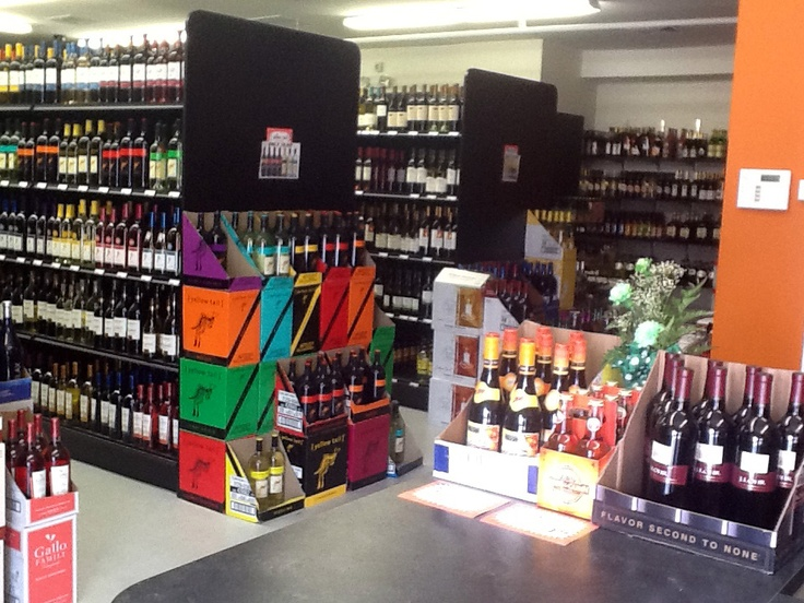 Black Gondola Shelving with End Panels | Liquor Store ...