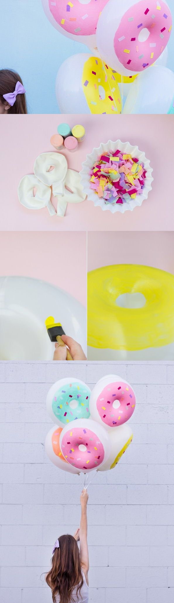 DIY Donut Balloons This is the cutest thing ever.