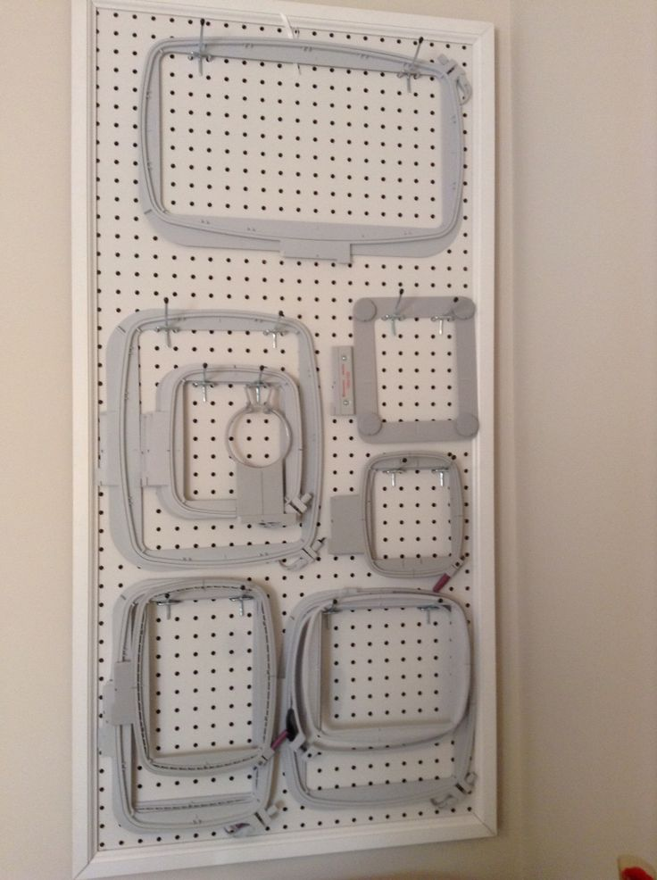 Embroidery hoop storage: Easy access to all your embroidery hoops