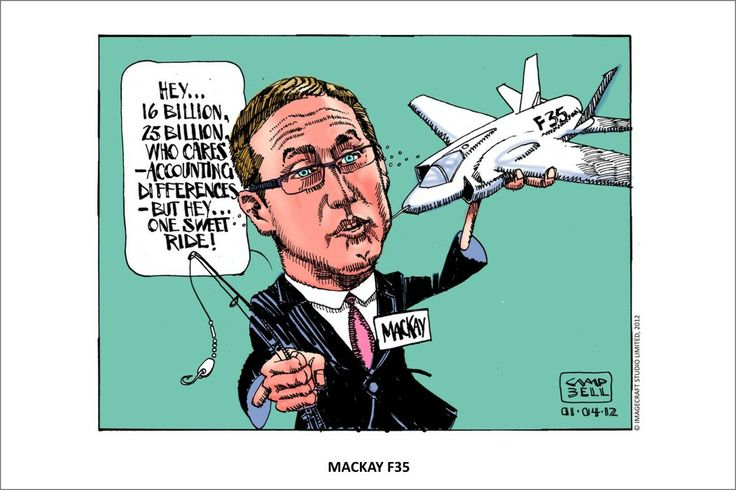 Another Canadian cartoon: The F35 is a pointless waste of $24 BILLION of Australian taxpayer funds.