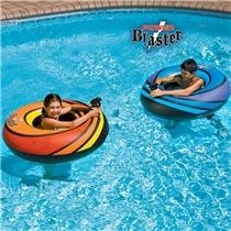 Jet Squirter Duel Set - two inflatable pool rings with constant supply water pistol for awesome water battles in the pool.