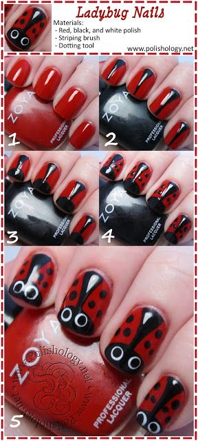 Easy to do nail art step by step for prom, party and casual