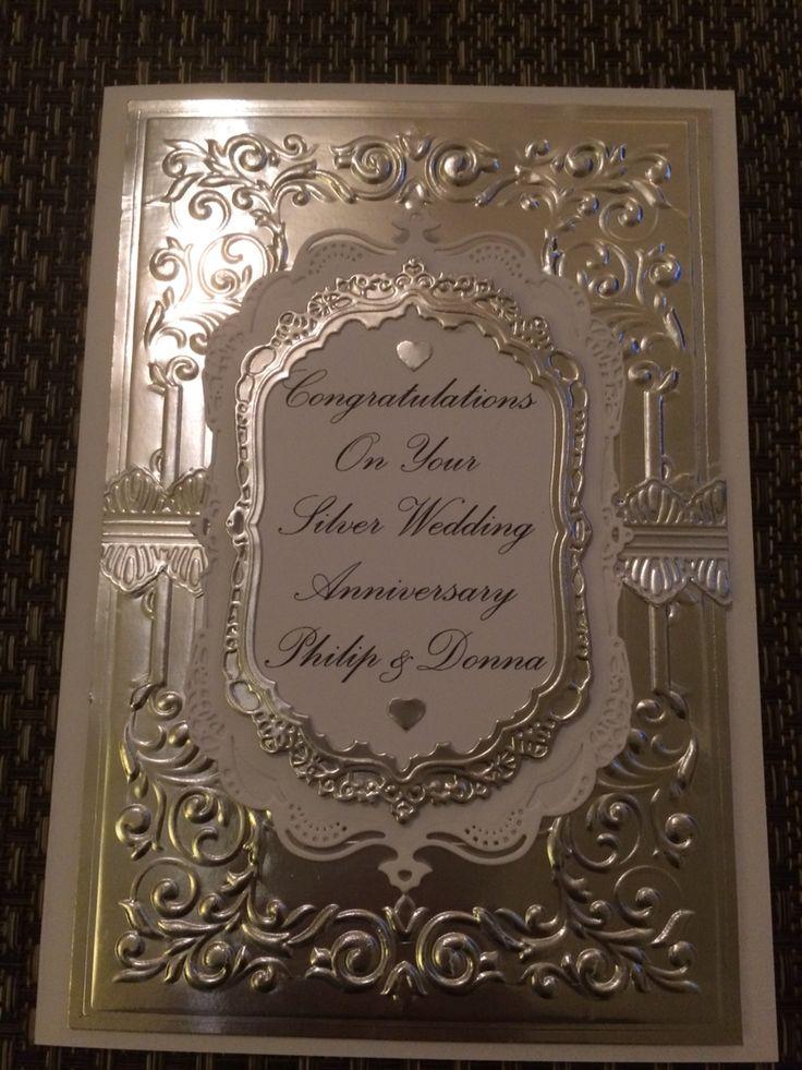 Silver Wedding Card