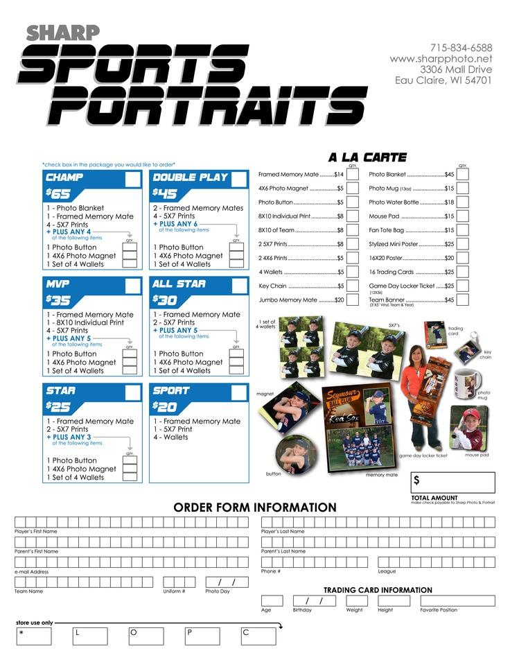 27 best Volleyball Portraits images on Pinterest Templates, Grad - photography order form