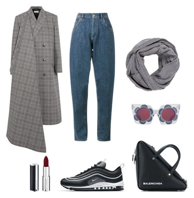 """In The Shadow Of The City"" by oheytita on Polyvore featuring Balenciaga, NIKE, Miu Miu, Alice + Olivia and Givenchy"