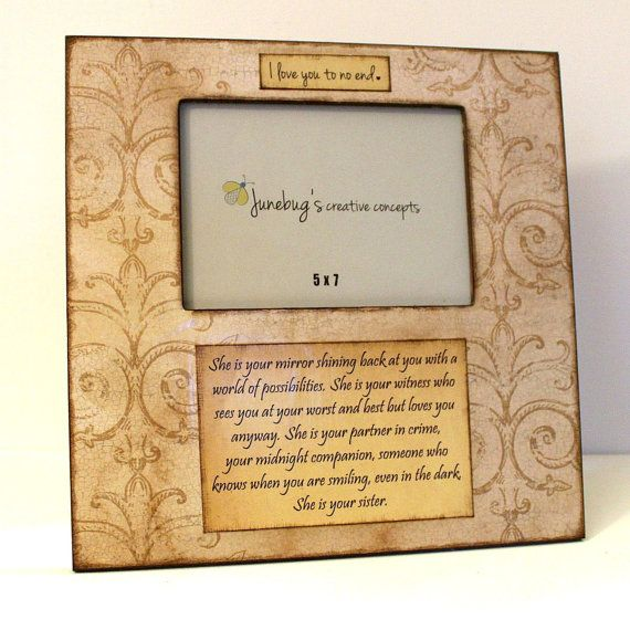 Large 12x12 Personalized Photo Frame 5x7 Vintage by JunebugsCC, $32.00
