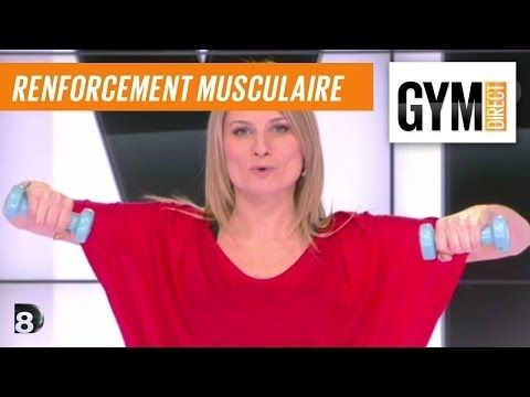 Cours gym : renfort musculaire 6 : Avec des poids - YouTube