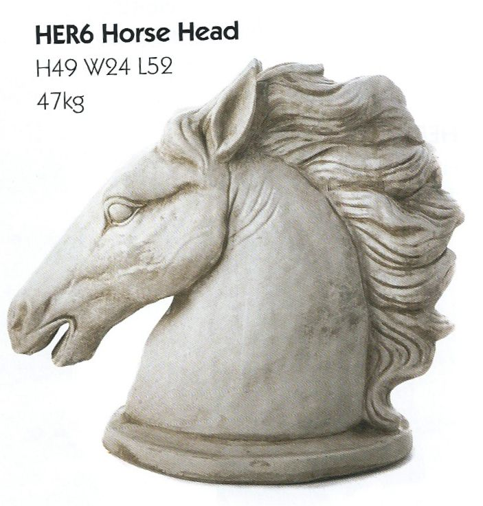 Discount Garden Statues   Pair Of Stone Cast Horses Heads Garden Ornaments,  £74.99 (