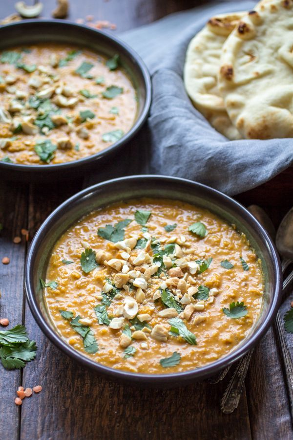 This fragrant soup is spiced with curry and made from creamy red lentils…