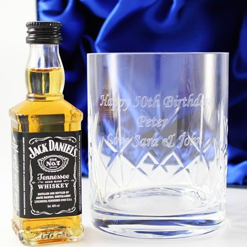 Engraved Crystal Tumbler and Jack Daniels Gift Set  from Personalised Gifts Shop - ONLY £27.99