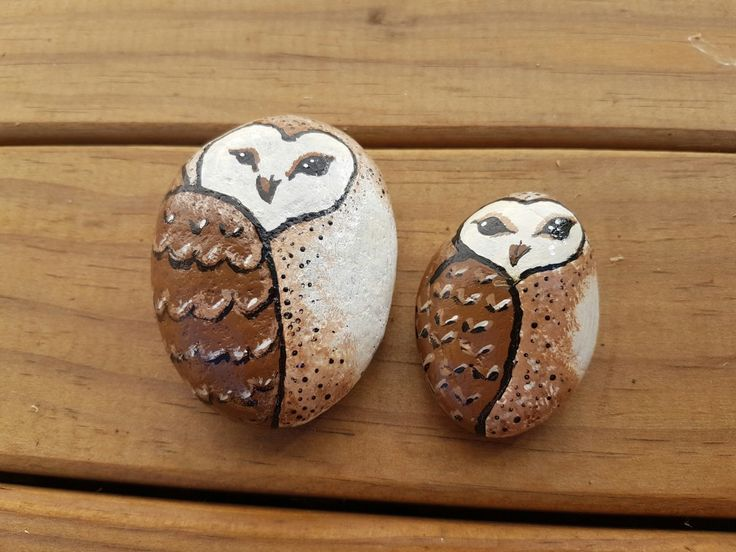 #rockpainting #owls
