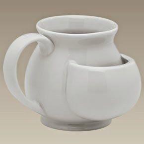 Kangaroo cup with teabag holder