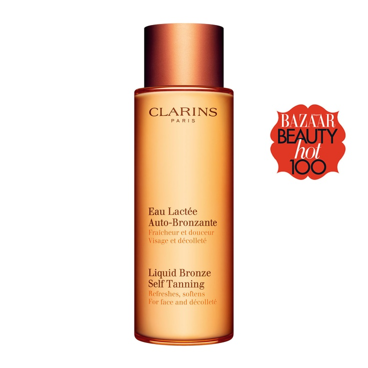 Liquid Bronze Self Tanning for Face & Decollete - Another award winning self tanner from Clarins, this product really is liquid bronze in a bottle. Perfect for special events or when you want a healthy glow quickly. As refreshing as water and as gentle as a milk, this vitamin-packed tanner delivers colour effortlessly to face and decollete with natural-looking results, while keeping your skin soft and looking healthy. Easy-to-apply, quick drying and streak-free. Winner of Best Face Self...
