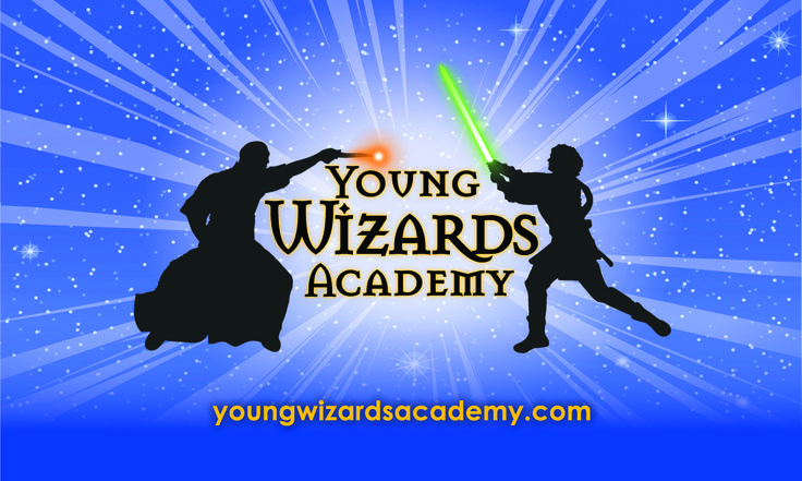 website Logo at ayoungwizardsacademy.com  Actioned Adventured Birthday Parties