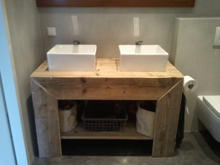 Daphne blank badkamer meubel van oud steigerhout douwche pinterest search and van - Badkamer meubel model ...