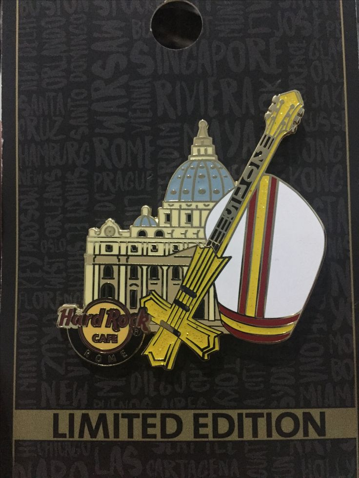 Hard Rock Pin ITALY Rome Limited Edition 2015 HRC Pope Tour Series 4