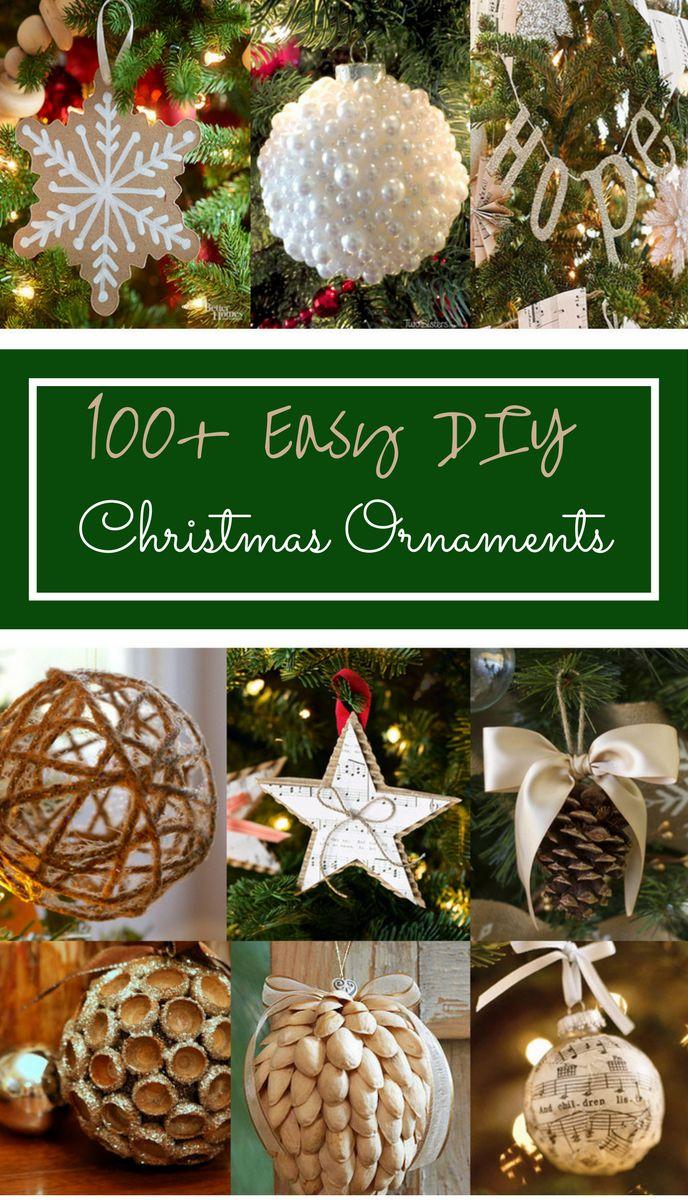 100 einfache DIY Weihnachtsverzierungen   – Prudent Penny Pincher