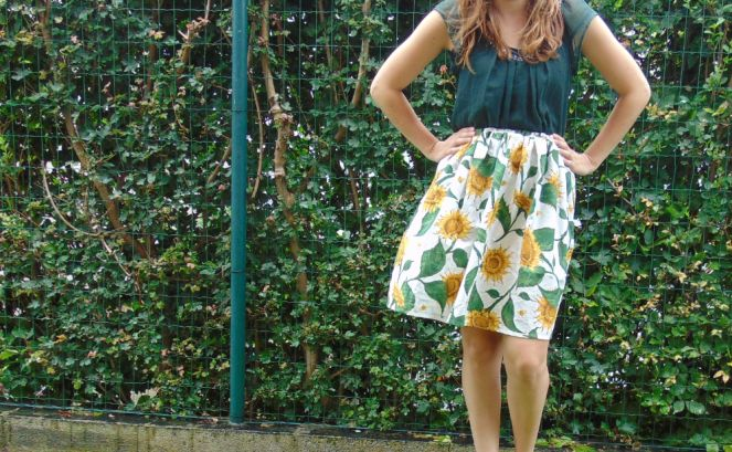gathered skirt - purl soho/ made by xcocolienx / over the heels and far away