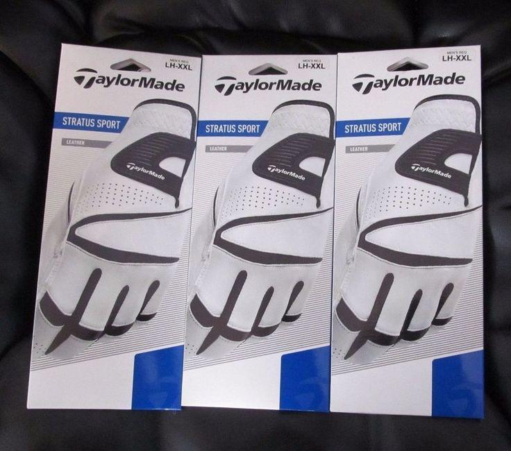 Taylormade Stratus Mens Regular Left Hand Leather Golf Gloves XXL- Set of Three…