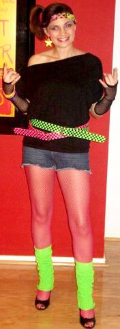 shorts, cutoff w/ fishnet stockings... Great 80s party costume pics for ideas and inspiration!