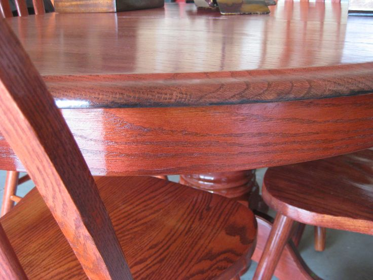 Refinished Shin Lee Oak 5 Piece Dining Set With Leaf. American White Oak  Extending Dining Room Table With Chars. It Has Been Newly Re Finished And  Stained ... Part 67