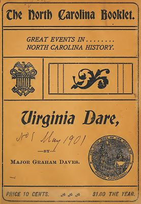 The North Carolina Booklet  was published in Raleigh by the North Carolina Daughters of the American Revolution to preserve and develop North Carolina history. ^cs