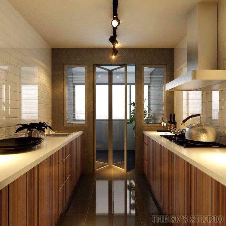 Kitchen Cabinets Singapore: Divider Between Kitchen And Utility Room.