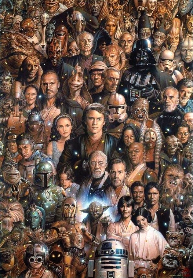 kinda peeved original trilogy got pushed to the side but still amazing piece of art!